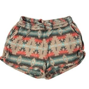 Jachs Girlfriend Womens Shorts, Tan Aztec 4